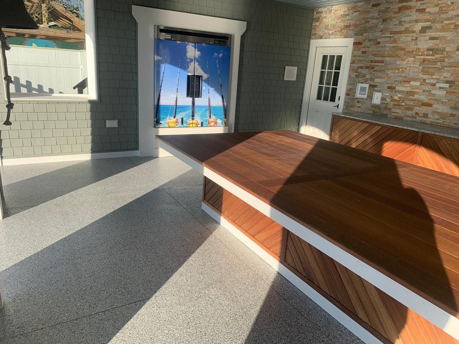 patio concrete flooring