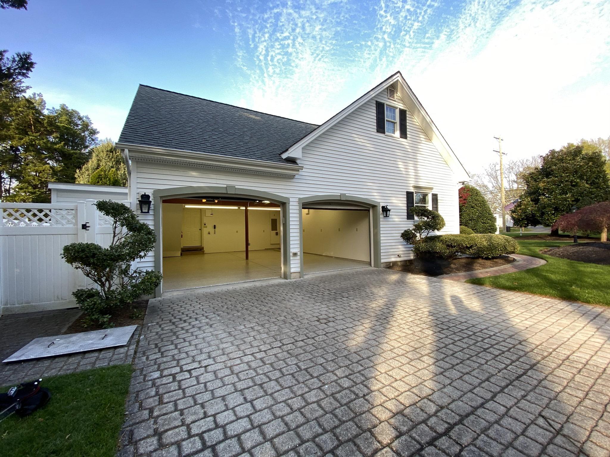 Residential concrete floor coatings