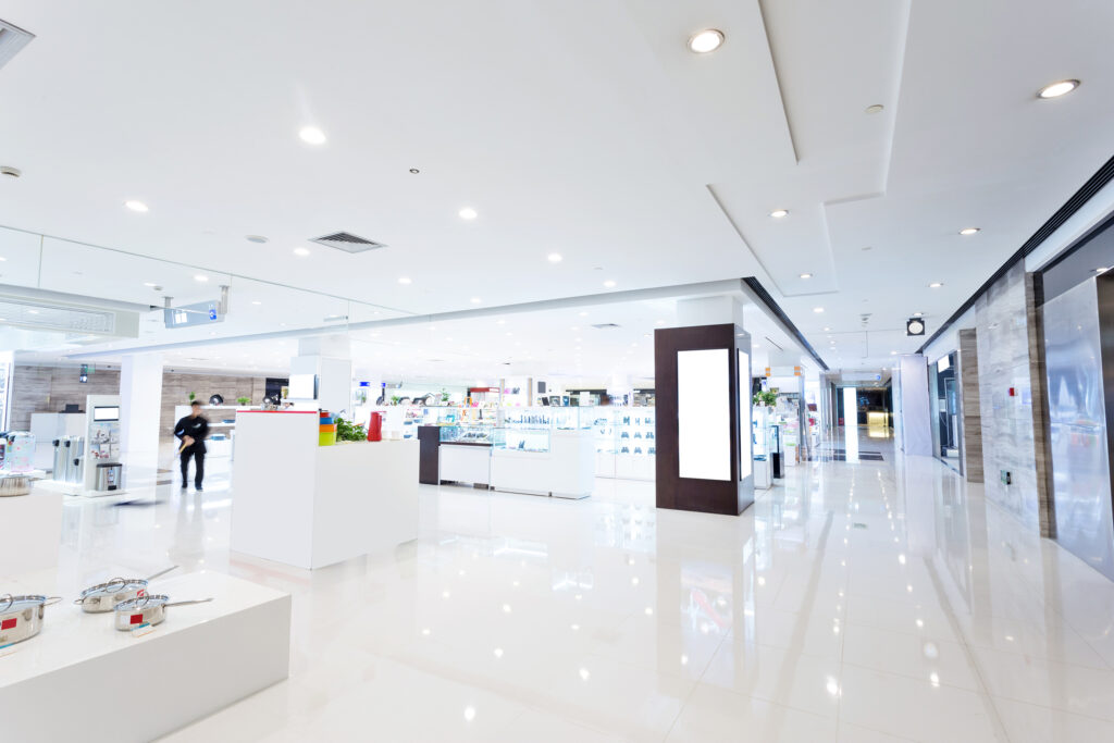 Store floor coatings