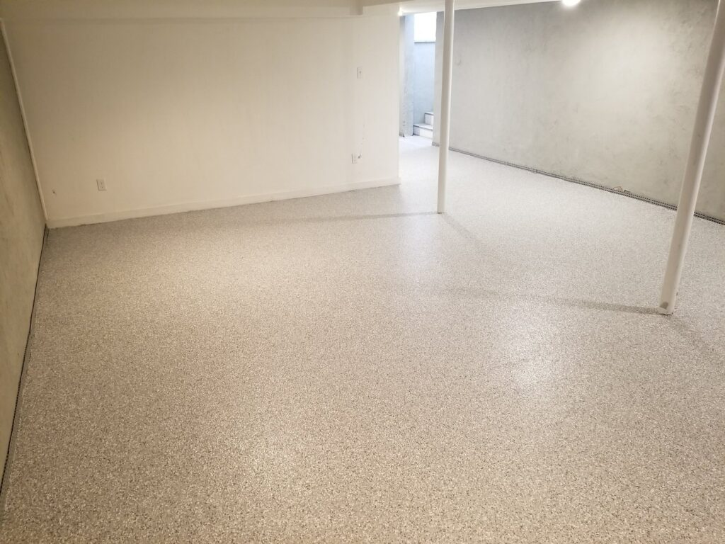 Basement concrete coatings